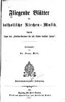 Fliegende Bl  tter f  r katholische Kirchenmusik PDF