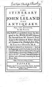 The Itinerary of John Leland the Antiquary: Volumes 7-8