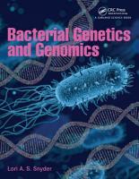 Bacterial Genetics and Genomics PDF