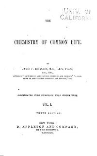 The Chmeistry of Common Life Book