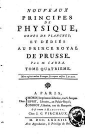 Nouveaux principes de physique: Volume4