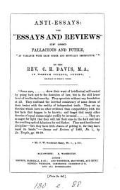 """Anti-essays: The """"Essays and Reviews"""" of 1860 Fallacious and Futile, """"at Variance with Each Other and Mutually Destructive"""", Volume 27"""
