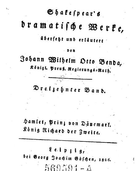 Hamlet  Prinz von D  nemark   K  nig Richard der Zweite PDF