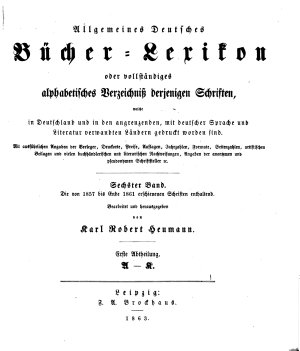Bd  1857 61  Bearb  u  hrsg  von K  R  Heumann  1863 64  2 pt  in 1 v PDF