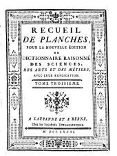 Encyclopédie ou Dictionnaire raisonné des sciences, des arts et des métiers: Volume39