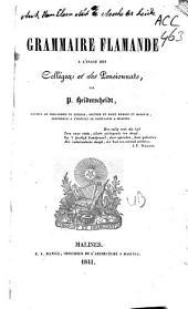 Grammaire flamande à l'usage des colléges et des pensionnats: Volume1