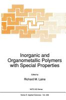 Inorganic and Organometallic Polymers with Special Properties PDF