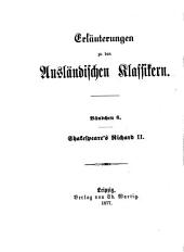 Shakespeare's Richard II.