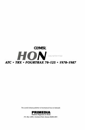 Honda  ATC  TRX  Fourtrax 70 125  1970 1987