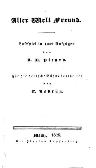 Lustspiele und Possen  F  r die deutsche B  hne bearbeitet von C  Lebr  n PDF