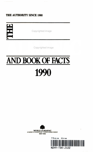 The World Almanac and Book of Facts  1990