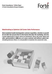 Matchmaking to Optimize Call Center Sales Performance