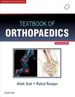 Textbook of Orthopaedics  1edition   E Book PDF