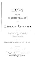 Laws Passed at the Session of the General Assembly of the State of Colorado