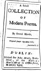 A Select Collection Of Modern Poems By Several Hands Book PDF