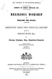 Census of Great Britain, 1851: Religious Worship in England and Wales