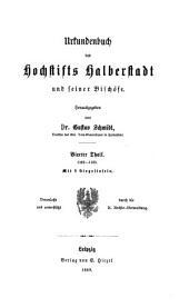 Urkundenbuch des Hochstifts Halberstadt und seiner Bischöfe: Band 40