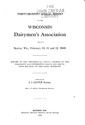Annual Report of the Wisconsin Dairymen's Association