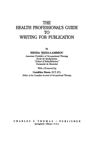 The Health Professional s Guide to Writing for Publication PDF
