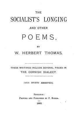 The Socialist s Longing and Other Poems PDF