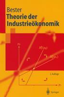 Theorie der Industrie  konomik PDF