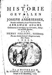 De historie of gevallen van Joseph Andriessen, broeder van Pamela, en zijn vriend den heer Abraham Adams