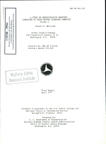 A Study of Administrative Hearings Conducted by State Driver Licensing Agencies. Volume I. Final Report