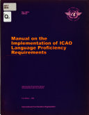 Manual on the Implementation of ICAO Language Proficiency Requirements