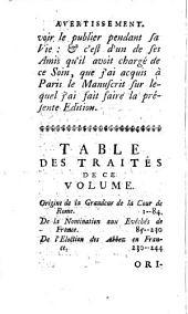 Origine de la grandeur de la cour de Rome: et de la nomination aux évechés et aux abbaies de France