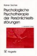Psychologische Psychotherapie der Pers  nlichkeitsst  rungen PDF