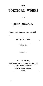 The Poetical Works of John Milton: With the Life of the Author, Volume 2