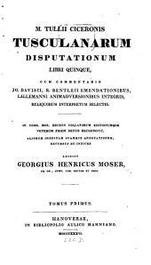 Tusculanae disputationes: Volume 1