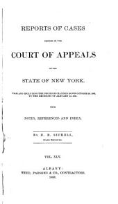 Reports of Cases Decided in the Court of Appeals of the State of New York: Volume 90
