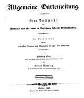 Allgemeine Gartenzeitung: Band 16