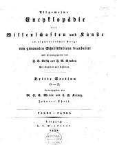 Allgemeine Encyclopädie der Wissenschaften und Künste in alphabetischer Folge ...: Band 19