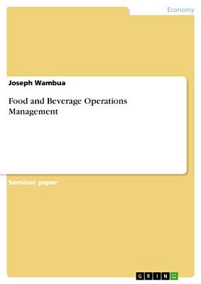 Food and Beverage Operations Management