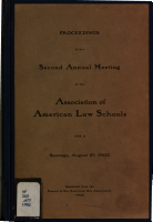 Proceedings of the     Annual Meeting of the Association of American Law Schools PDF