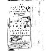 Le fortune d'Oronte drama di Giacomo Castoreo. Fauola settima. Agl'illustrissimi, ... Nicolò, et Geronimo Querini ..