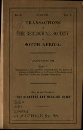Transactions of the Geological Society of South Africa: Volume 2,Deel 5