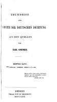Grundrisz zur geschichte der deutsche dichtung aus den quellen PDF