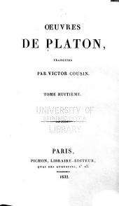 Oeuvres de Platon: Volume8