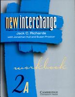 New Interchange Workbook 2A PDF