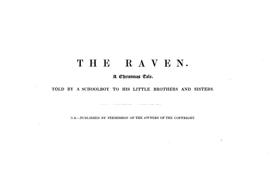 Download The Raven  a Christmas Tale      In Verse   Illustrated in Eight Plates  by an Old Traveller Book