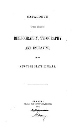 Catalogue of the books on bibliography  typography and engraving PDF