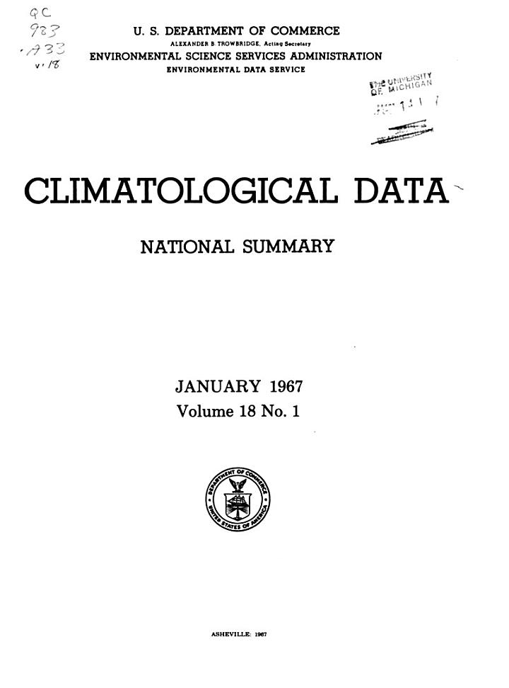 Climatological Data: National Summary