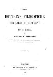 Delle dottrine filosofiche nei libri di Cicerone: tesi de laurea