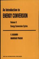 An Introduction to Energy Conversion PDF