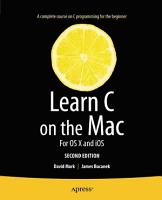Learn C on the Mac PDF