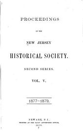 Proceedings of the New Jersey Historical Society: Volume 2; Volume 5