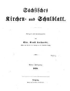 S  chsisches Kirchen  und Schulblatt PDF